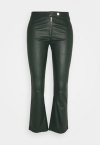 Ibana - Kožené kalhoty - dark green - 0