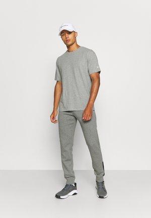 CREW NECK 2 PACK - T-shirt - bas - grey/black