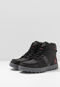 DC Shoes - WOODLAND - Sneakers high - black/battleship/athletic red - 2