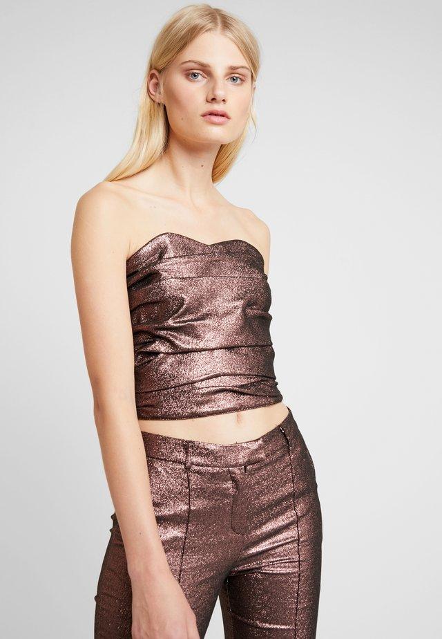 ETHEL CORSAGE - Top - pink glitter