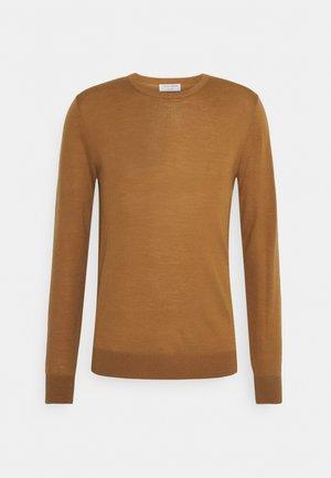 NICHOLS - Pullover - tobacco brown