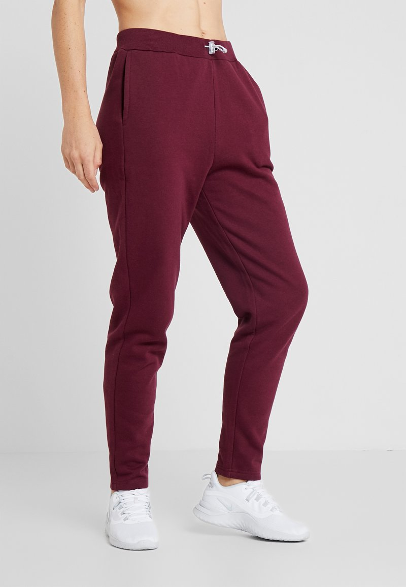 South Beach - REFLECTIVE TIE - Pantalones deportivos - burgundy
