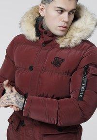 SIKSILK - PUFF - Winter coat - burgundy - 4