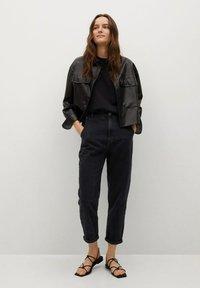 Mango - Slim fit jeans - black denim - 1