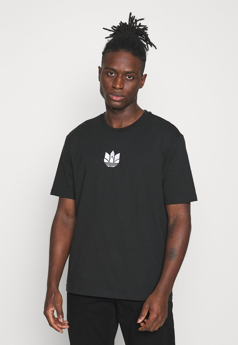 adidas Originals - TEE UNISEX - T-shirts print - black/white
