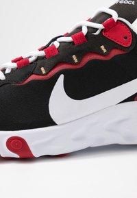 Nike Sportswear - REACT 55 - Sneaker low - black/white/gym red/metallic gold - 2