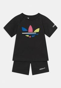 adidas Originals - SHORT TEE SET UNISEX - T-shirt print - black - 0