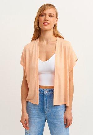 MIT OFFENER VORDERSEITE - Vest - peach