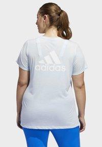 adidas Performance - GO TO T-SHIRT (PLUS SIZE) - T-shirt print - blue - 2