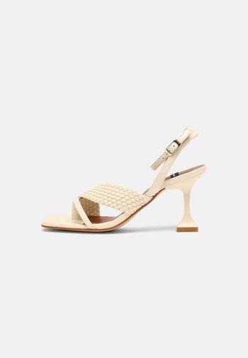 VEGAN - T-bar sandals - ice