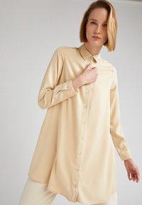 DeFacto - Button-down blouse - beige - 4