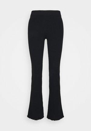 LETTUCE EDGE BABY FLARE - Trousers - black