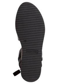 Tamaris - Ankle cuff sandals - black/metallic - 3