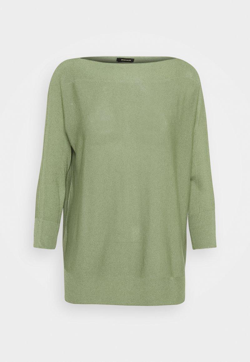 More & More - BOAT NECK BATWING - Jumper - smaragd