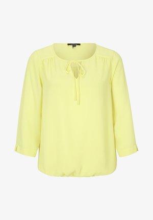 MIT ZIERSCHLEIFE - Blouse - yellow