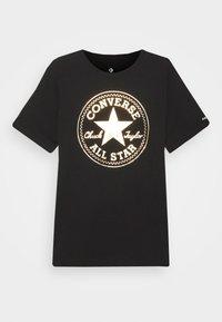 Converse - FOIL CHUCK PATCH TEE UNISEX - Camiseta estampada - black - 0