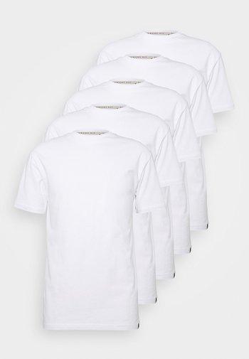 TEE 5 PACK - Basic T-shirt - white