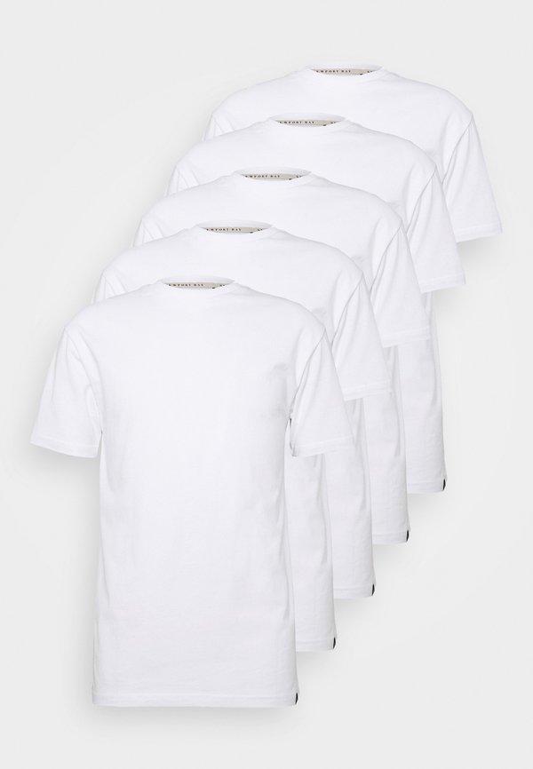 Newport Bay Sailing Club TEE 5 PACK - T-shirt basic - white/biały Odzież Męska PNJG