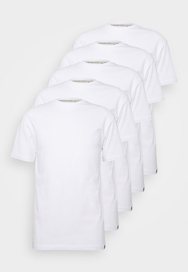 TEE 5 PACK - T-shirts - white