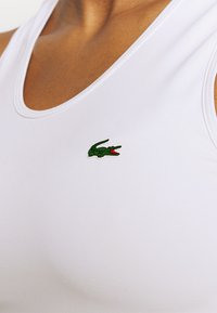 Lacoste Sport - TENNIS TANK - Sports shirt - white/cosmic greenfinch/black - 5