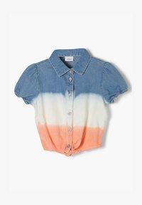 s.Oliver - Button-down blouse - blue stripes - 0