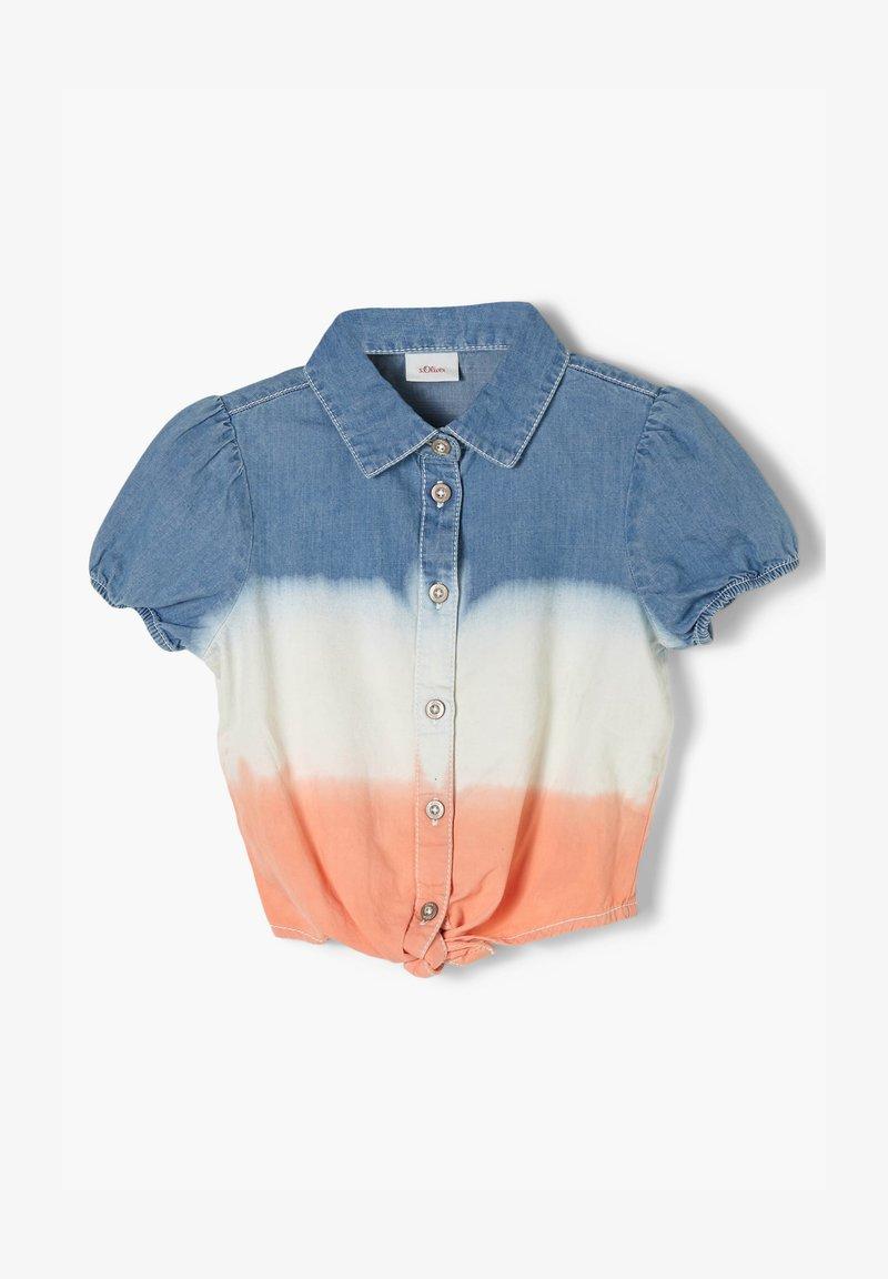 s.Oliver - Button-down blouse - blue stripes