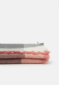 ONLY - ONLALDINI SQUARE SCARF  - Foulard - dusty rose/ecru - 1