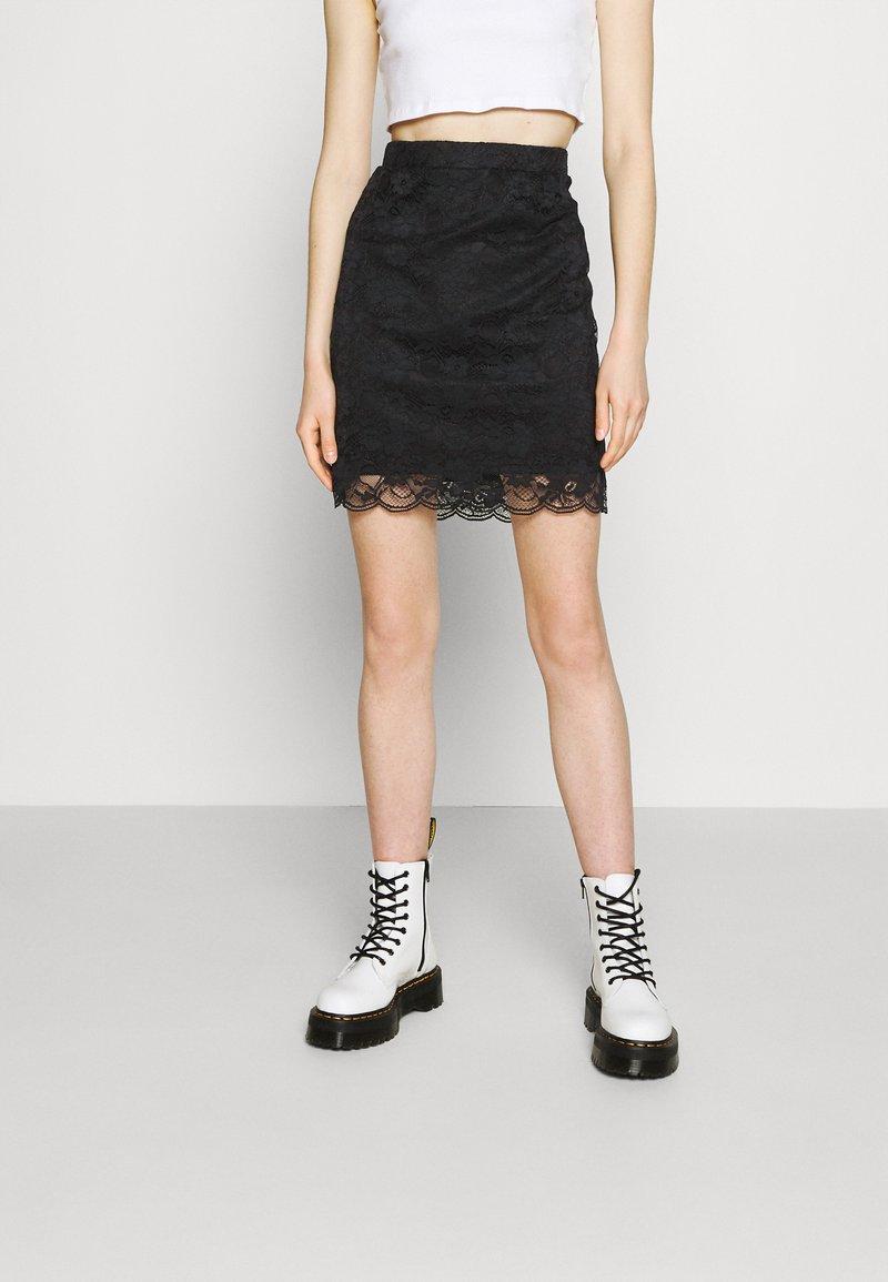 Vila - VIJASMIN FESTIVAL SKIRT - Mini skirt - black