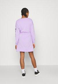 Even&Odd - sweat mini drawstring waist dress - Day dress - lilac/black - 2
