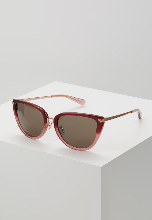 Zonnebril - burgundy glitter gradient