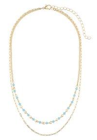 Six - MIT GLASSTEINEN IN GLANZ-OPTIK - Necklace - blau - 2
