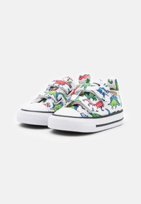 Converse - CHUCK TAYLOR ALL STAR DIGITAL DINOVERSE UNISEX - Trainers - white/green/university red - 1