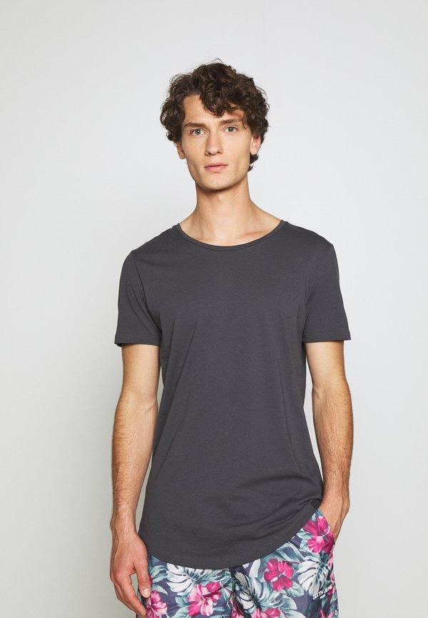 Lee SHAPED TEE - T-shirt basic - black/czarny Odzież Męska GFYG