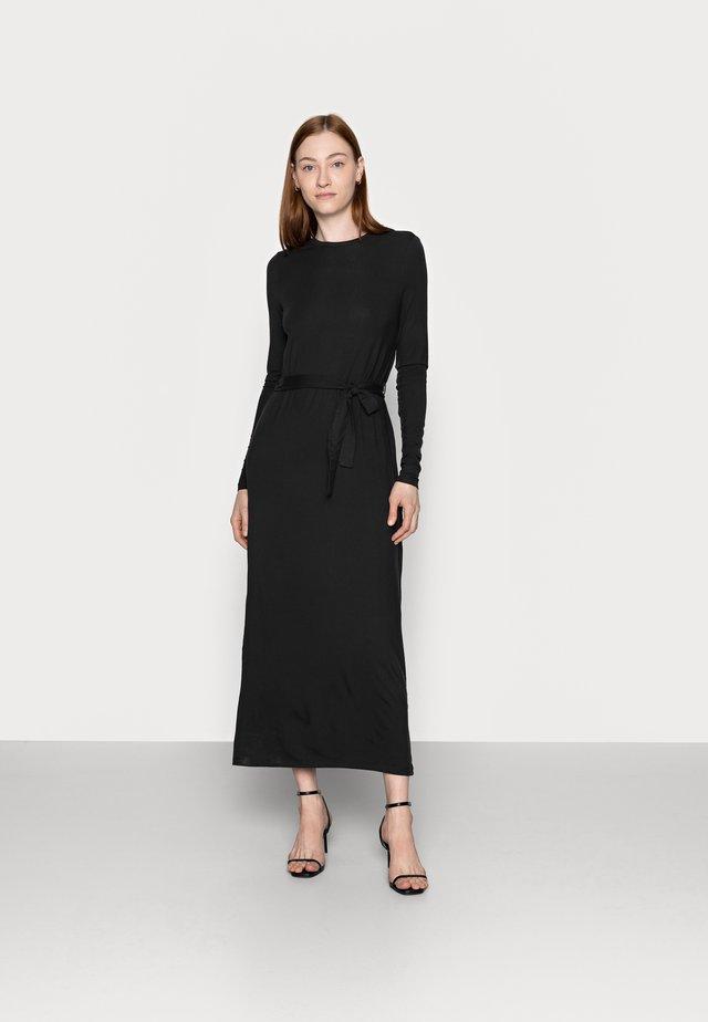 VMNAVA TIE ANKLE DRESS - Maxi dress - black