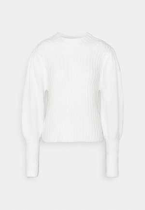 PLEATED PUFF SLEEVE JUMPER - Jumper - white