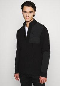 Calvin Klein Jeans - UTILITY HALF ZIP SWEATER - Jumper - black - 3