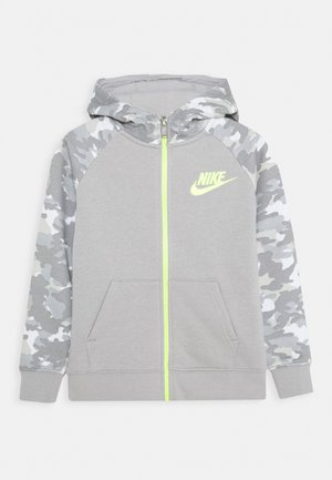 CRAYON CAMO HOODIE - veste en sweat zippée - light smoke grey/smoke grey/volt