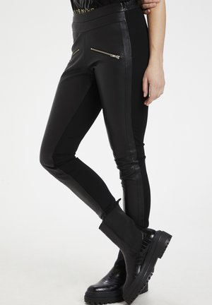 CUJEWEL - Leather trousers - black