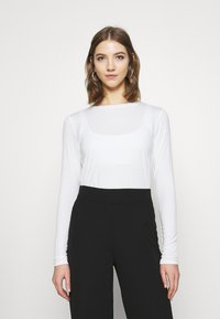 Hollister Co. - EASY CREW - Long sleeved top - white - 0