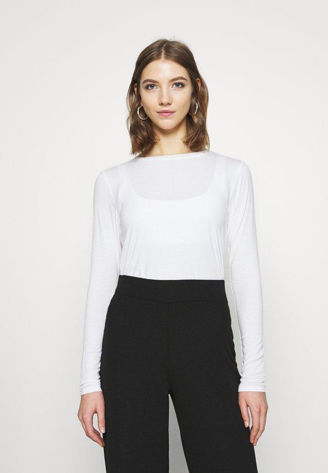 EASY CREW - Maglietta a manica lunga - white