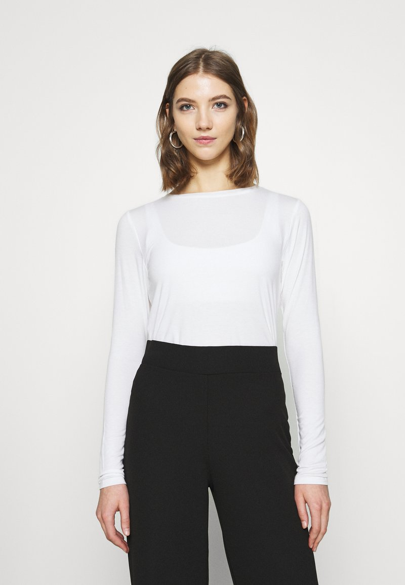 Hollister Co. - EASY CREW - Long sleeved top - white