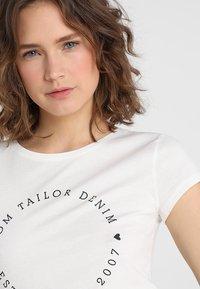 TOM TAILOR DENIM - 2 PACK - Print T-shirt - shale grey melange - 4