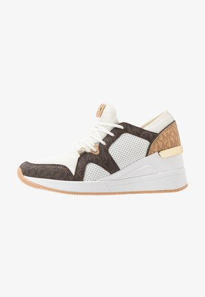 LIV TRAINER - Sneakers laag - optic white/brown