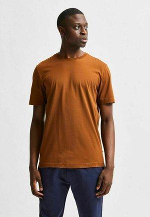 SLHNORMAN O NECK TEE  - T-shirt - bas - monks robe