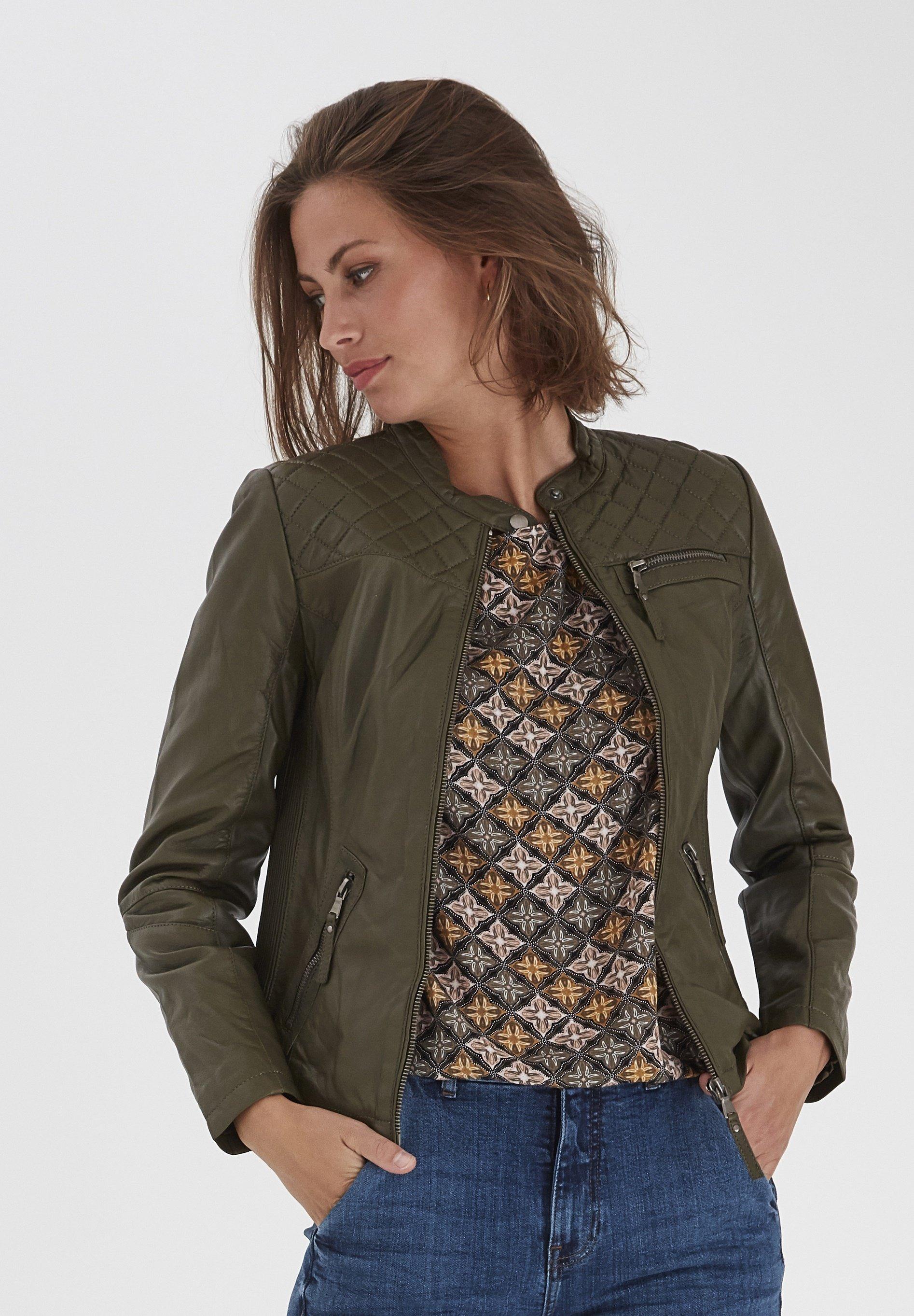 Groene Leren jassen dames online kopen   Gratis verzending