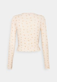BDG Urban Outfitters - FLORAL EDGE TEE - Topper langermet - peach - 1