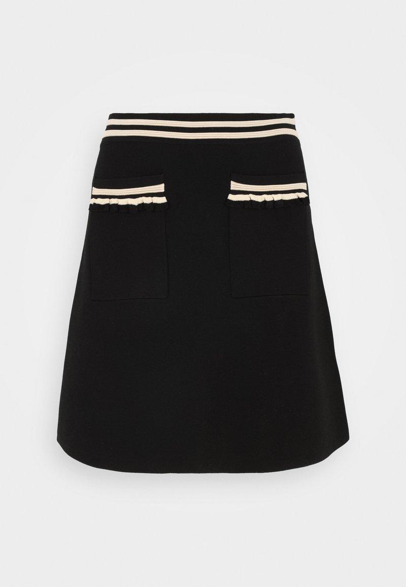 sandro - A-line skirt - noir