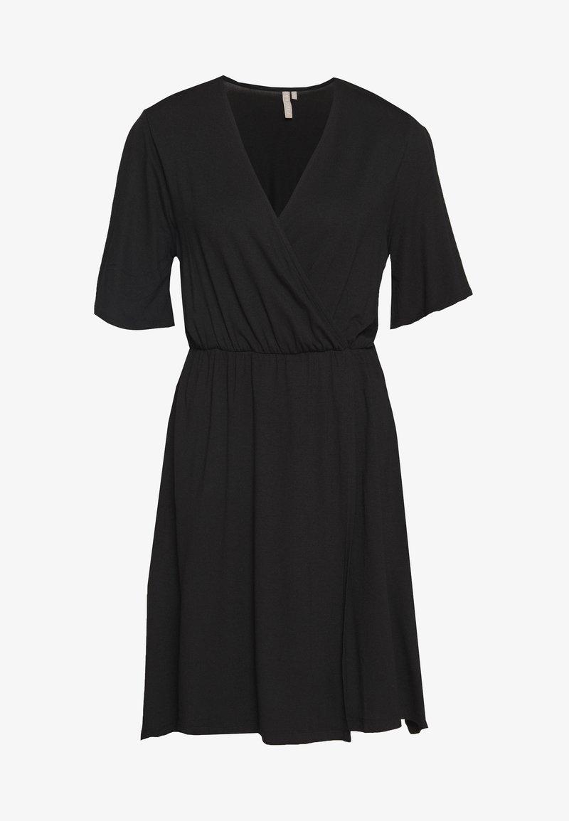 Pieces - PCMARYJANE WRAP DRESS - Jerseykjole - black