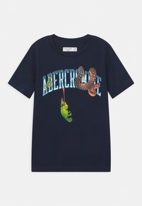 Abercrombie & Fitch - WESTERN IMAGERY PRINT LOGO - Print T-shirt - dark blue - 0