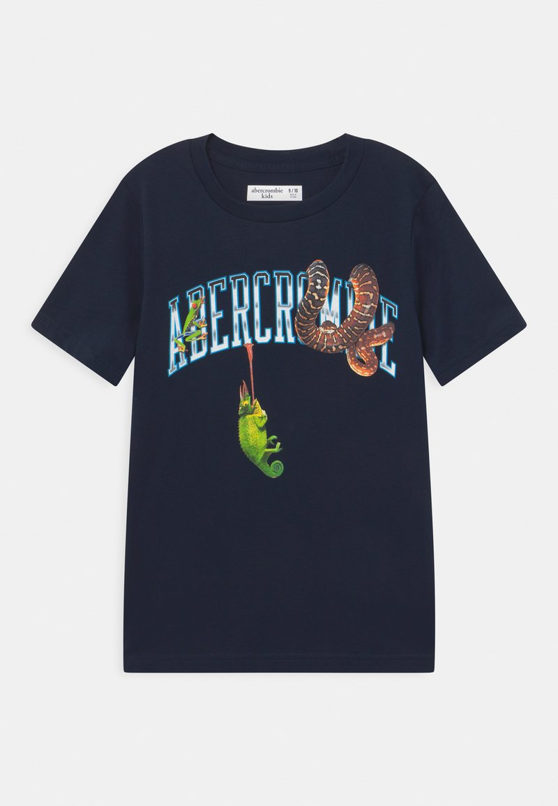 Abercrombie & Fitch - WESTERN IMAGERY PRINT LOGO - Print T-shirt - dark blue